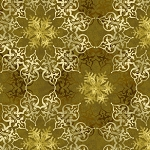 Winter Elegance Gold Medallion